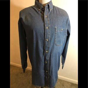 River's End Men's Denim Shirt, size L